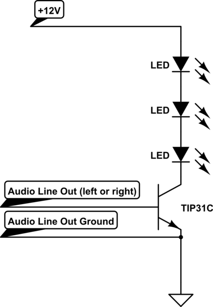 led How can I effectively reduce the voltage needed to activate a transistor