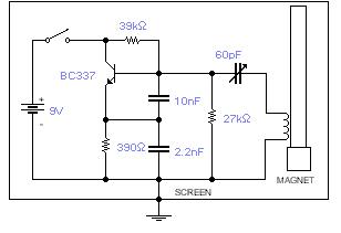 geomagnetic field detector - schematic