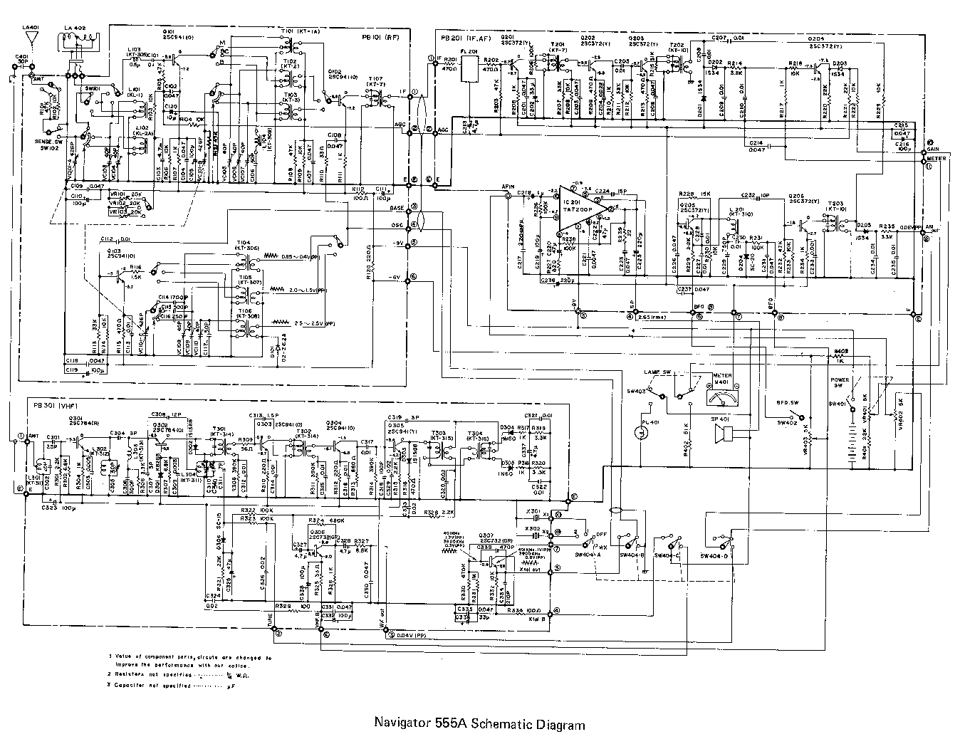 navigator 555a radio direction finder rdf circuit diagram