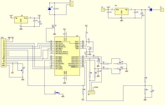 digital voltmeter - schematic