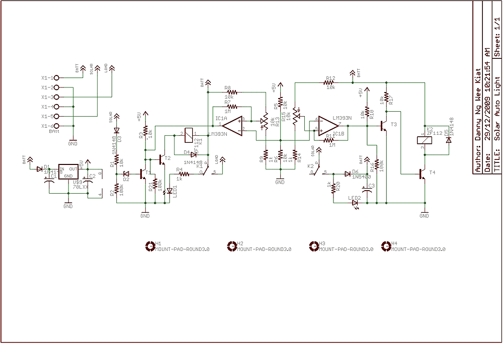 Solar Charger circuit - schematic