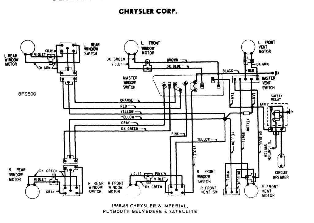 1968_69_Mopar_power_window_wiring_diagram  Pin Power Window Switch Wiring Diagram on flat trailer, relay socket, momentary switch, din connector, flat trailer plug, mackay boat trailer, horn relay, relay compressor, automotive relay, starter relay, round trailer plug, boat trailer,
