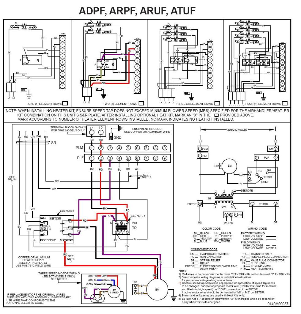 GoodmanARUFDiagram wiring diagram for a30 10 goodman air handler readingrat net goodman a30-15 wiring diagram at soozxer.org