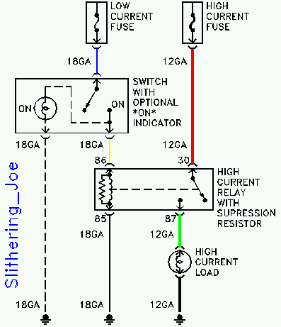 Bosch 75 amp relay wiring diagram - schematic