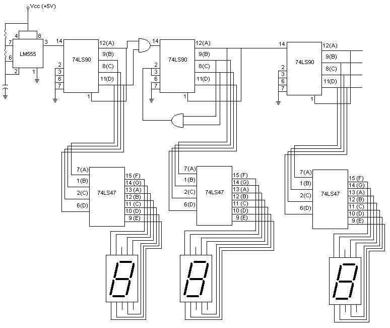 24 hour digital clock circuit diagram