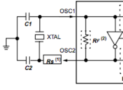 How do I use a quartz crystal in an oscillator - schematic