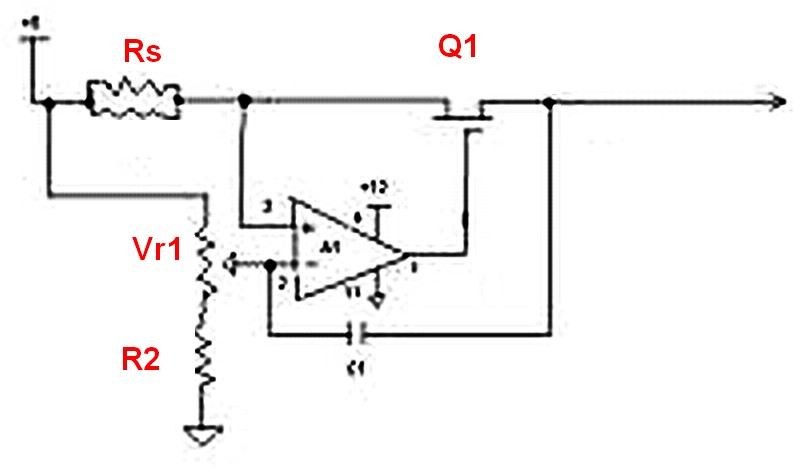 Simple LM317 variable voltage supply does it limit current too - schematic