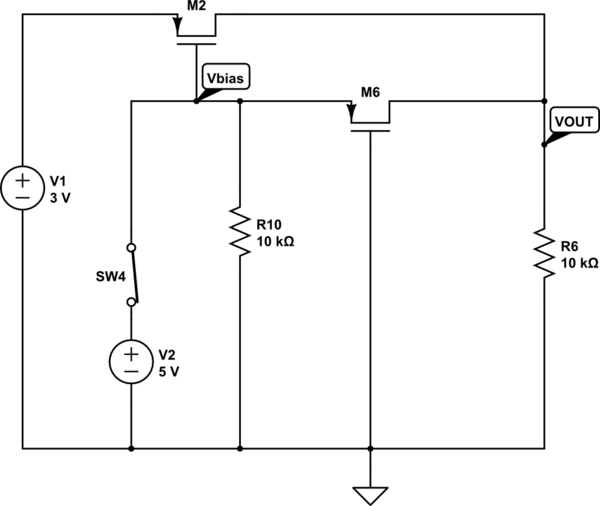 power Switching Between Two Voltage Supplies - schematic