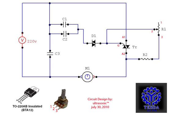 Circuits speed controller circuit for ac motor l27472 Speed control for ac motor