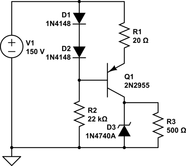 bjt low voltage  current power supply for wide range of inputs
