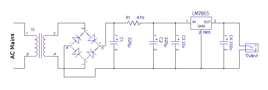 Circuit Diagram 5 Volt Power Supply blueraritaninfo
