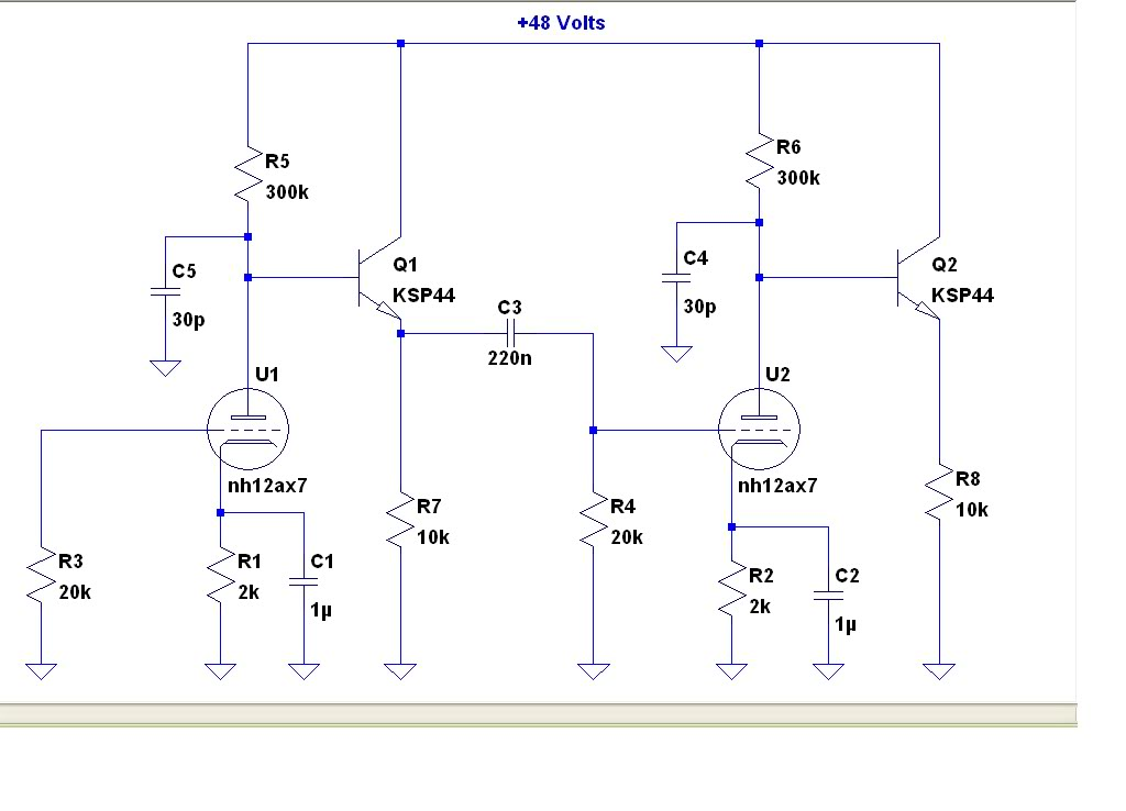 tube overdrive pedal - schematic
