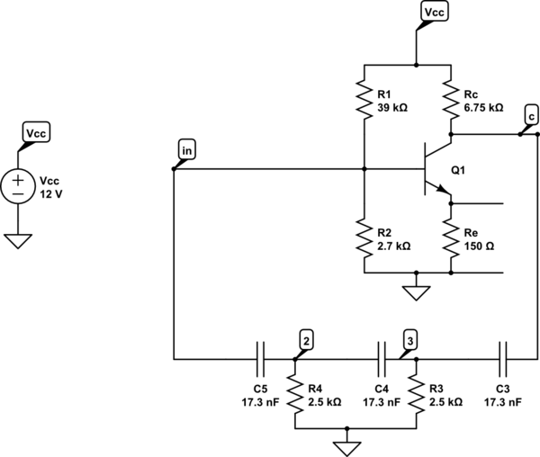 capacitor Whats wrong with this Phase Shift Oscillator - schematic