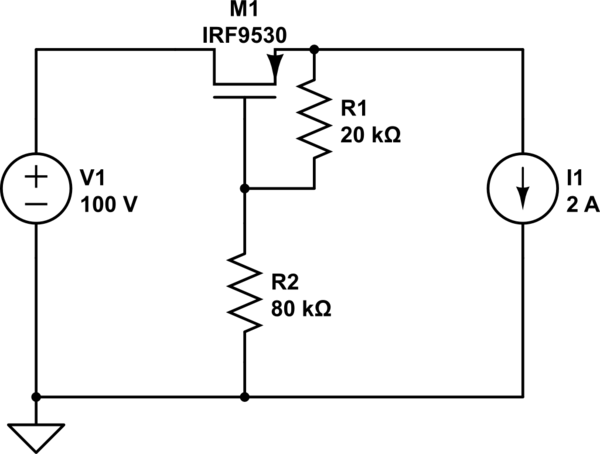 mosfet Reverse polarity protection - schematic