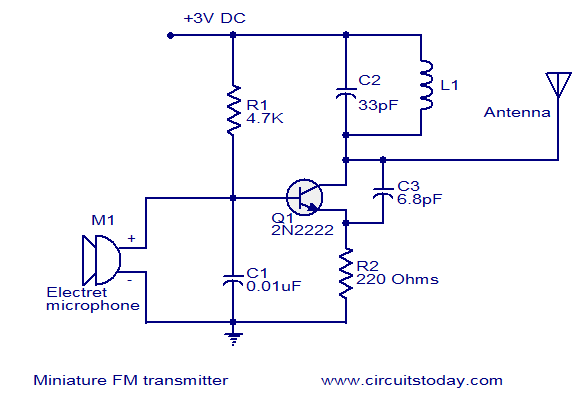 How do i calculate the frequency of an fm transmitter circuit - schematic