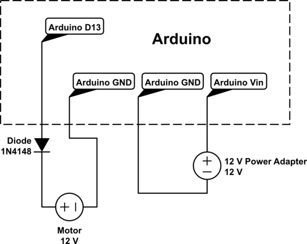 Can an Arduino use a 12 V relay - schematic
