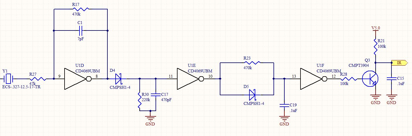infrared Help Troubleshooting This Circuit - schematic