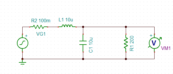 power supply Inductive choke with bypass capacitors