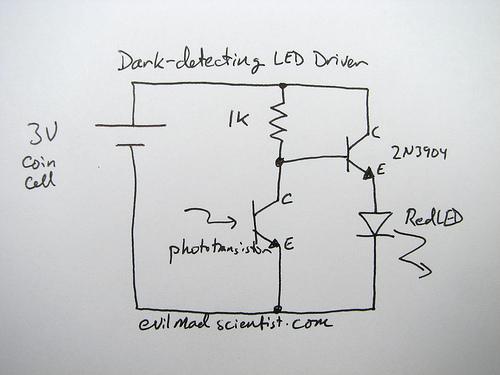 phototransistor Light sensor using Photo Transistor - schematic