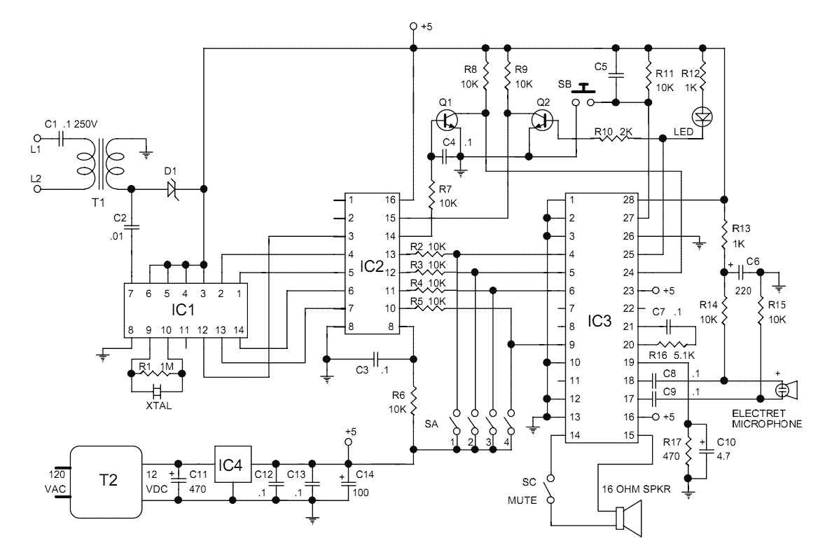 Decoder Circuit Page 2 Digital Circuits Clock 5 Meter Counter Nextgr Dtmf With Voice