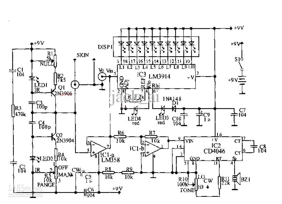 lie detector circuit diagram – the wiring diagram, Circuit diagram