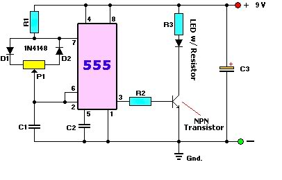 LED dimmer circuit - schematic