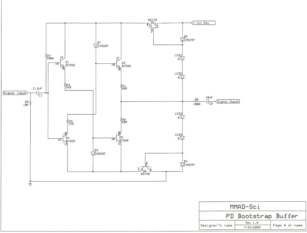 Buffer Circuit Page 3 Other Circuits Ttlcontrolled Laser Diode Driver Updated Schematics Bootstrap Based Preamp