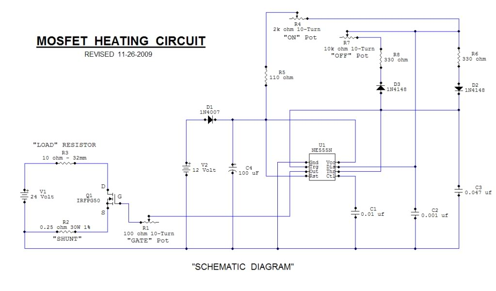 Mosfet Heating Circuits - schematic
