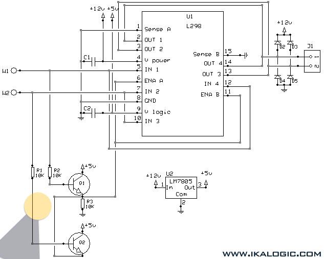 L298N Circuit Diagram | L298 H Bridge Circuit Diagram 5 4 Asyaunited De