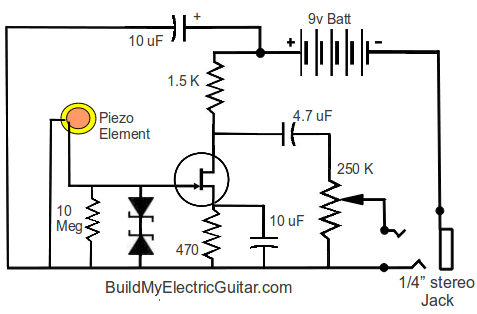 Piezo Pickup Pre Schematic on tesla radio diagram
