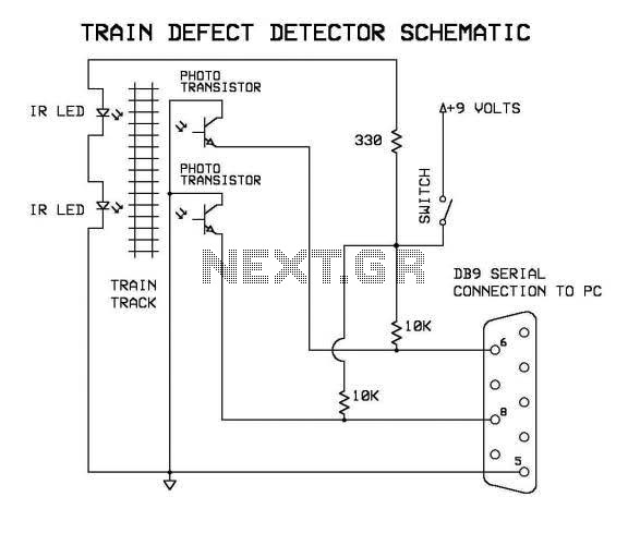Model Train Defect Detector Circuit