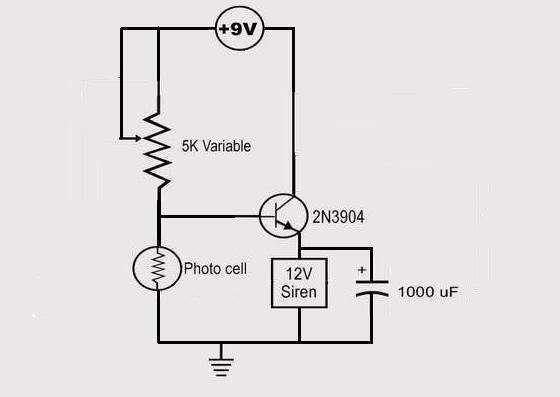 Laser Alarm Schematic - schematic