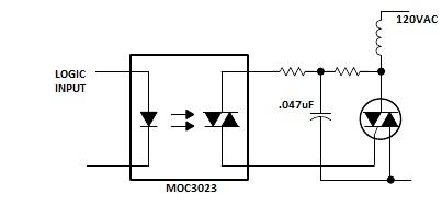 Triac low output problem - schematic