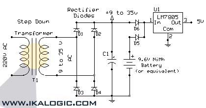 Uninterruptible Power Supply (UPS) Schematic - schematic