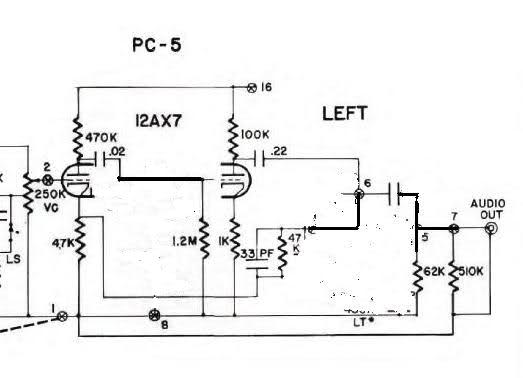 Bypassing tone controls from Dyna Pas preamp - schematic