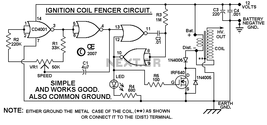 Electric Fence Charger Circuit Diagram on solar electric fence installation diagram