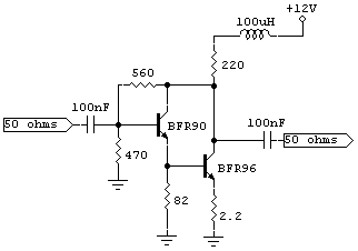 ultra broadband buffer amplifier - schematic