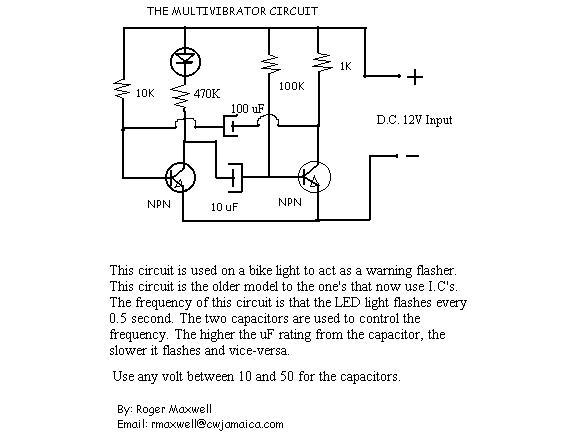Astable Multivibrator - schematic