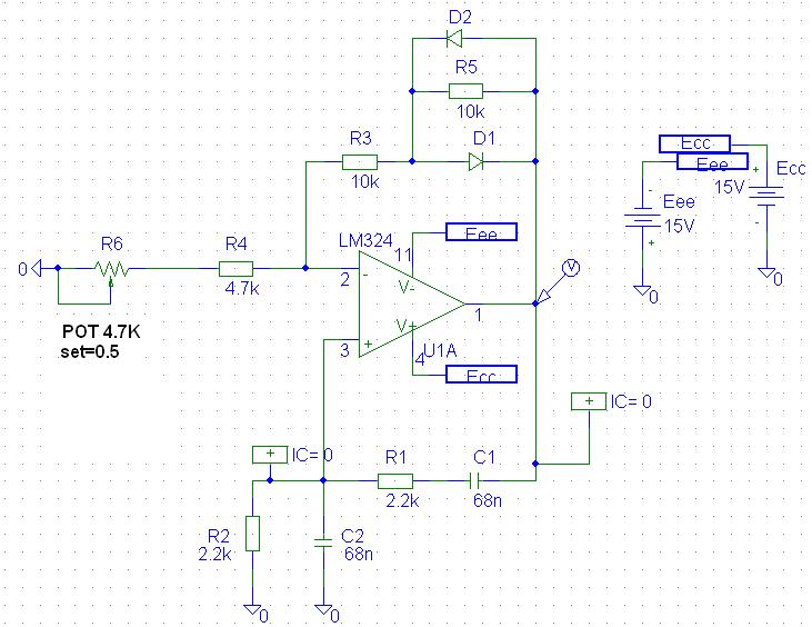 wein bridge oscillator - schematic