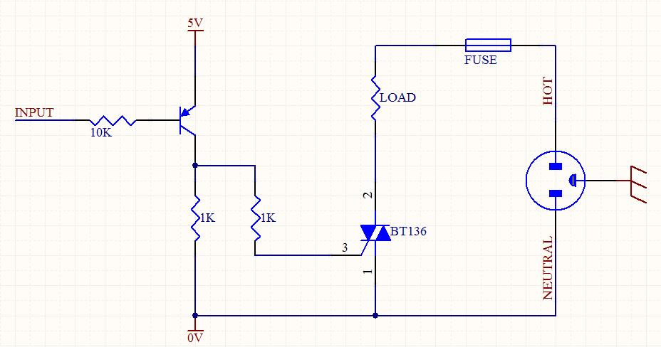 triac for this light dimmer circuit