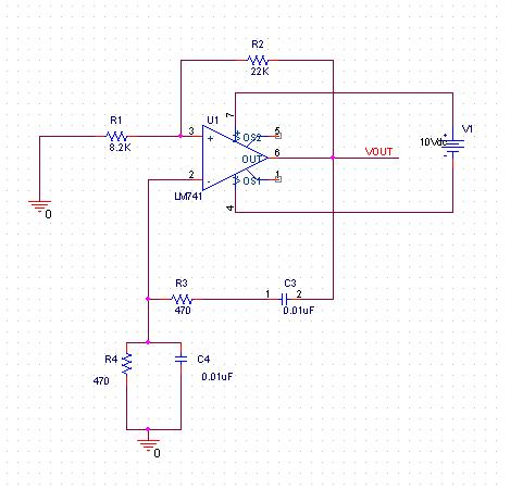 wein bridge oscillator - schematic