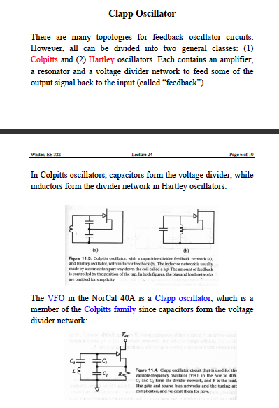 Questions about colpitts oscillator design - schematic
