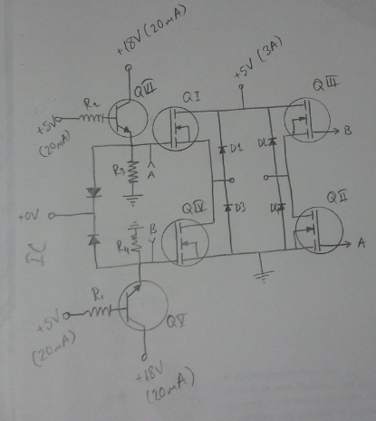 H-bridge driving problemMOSFET frequently damage - schematic