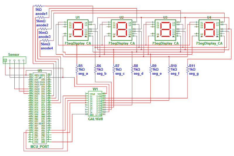 Full display circuit - schematic