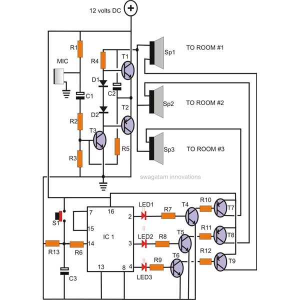 Simple Inter  Circuit For Home  munication L34991 on bathroom wiring