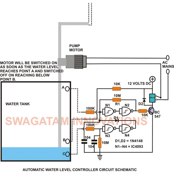 Build This Simple Electronic Water Level Controller Under