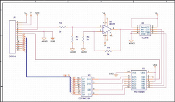 MIXED ANALOG/DIGITAL DESIGN USING SPLIT POWER GROUND PLANES - schematic