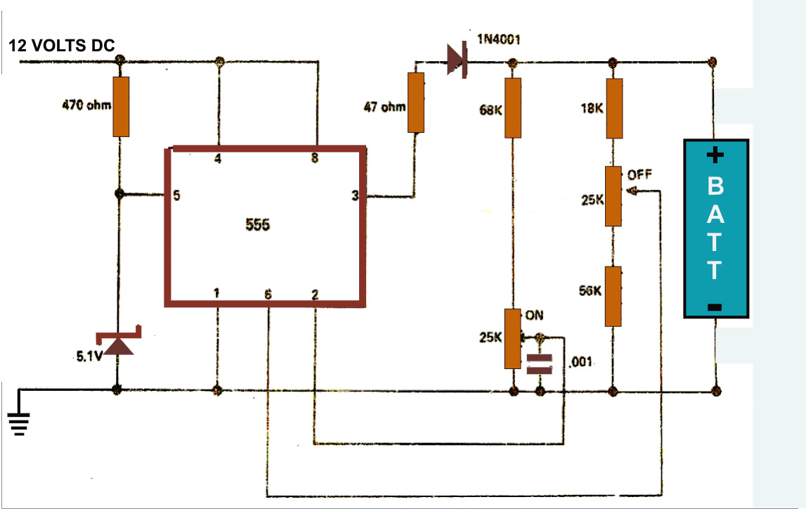 Portable Charger Wiring Diagram Library Automatic Changeover Switch Circuit Using 555 Timer Battery Chargercircuit Ic