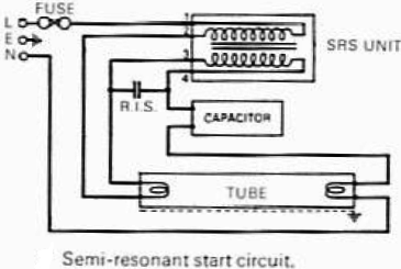 Fluorescent lamp - schematic