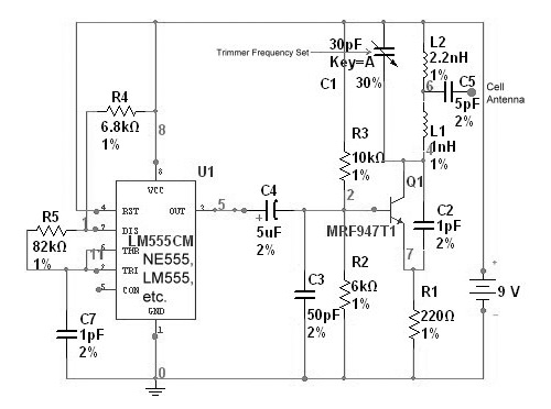 GSM Phone Jammer Circuit Schematics - schematic